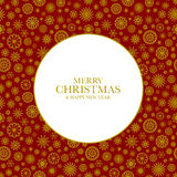 Julbakgrund med guld- snöflingor Royaltyfri Foto