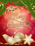 Julbakgrund med guld- struntsaker 10 eps Royaltyfria Bilder
