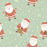 Julbakgrund med gullig jultomten. Royaltyfria Bilder