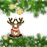 Julbakgrund med juldekoren och gräsplan förgrena sig vektor illustrationer