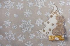 Julbakgrund med julsymboler Fotografering för Bildbyråer