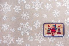 Julbakgrund med julsymboler Royaltyfria Foton