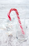 Julbakgrund med klubban Royaltyfri Fotografi
