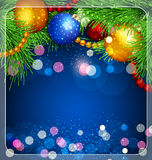 Julbakgrund med klumpa ihop sig royaltyfri illustrationer