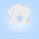 Julbakgrund med kuvert Fotografering för Bildbyråer