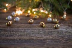 Julbakgrund med lampor arkivfoto