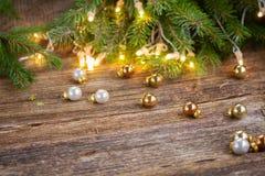 Julbakgrund med lampor royaltyfria bilder