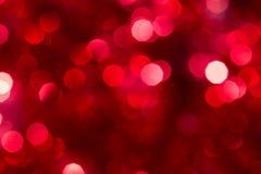 Julbakgrund med NYTT ÅR för röda ljus BOKEH royaltyfri bild