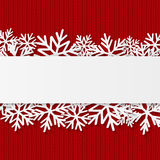Julbakgrund med paper snowflakes Royaltyfri Foto