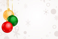 Julbakgrund med prydnader Royaltyfri Illustrationer