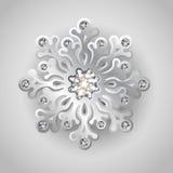 Julbakgrund med smyckensnowflaken Arkivfoto