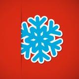 Julbakgrund med snöflingan Fotografering för Bildbyråer