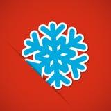 Julbakgrund med snöflingan Royaltyfri Foto
