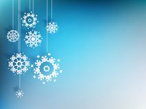 Julbakgrund med snöflingan. EPS 10 Arkivbilder