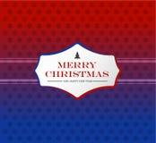 Julbakgrund med snöflingor och etiketten för glad jul Royaltyfri Fotografi