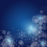 Julbakgrund med snöflingor och utrymme för text vektor Royaltyfri Bild