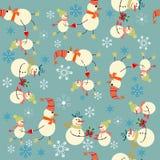 Julbakgrund med snögubben Royaltyfri Fotografi