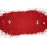 Julbakgrund med snow. Arkivbild