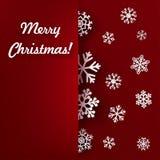 Julbakgrund med snowflaken Arkivfoton