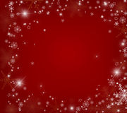 Julbakgrund med snowflakes Royaltyfria Bilder