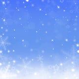 Julbakgrund med snowflakes Arkivbilder