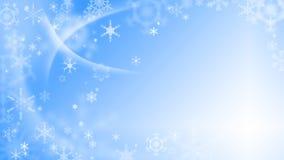 Julbakgrund med snowflakes Royaltyfri Fotografi