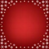 Julbakgrund med snowflakes arkivfoton