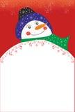 Julbakgrund med snowmanen Royaltyfria Foton