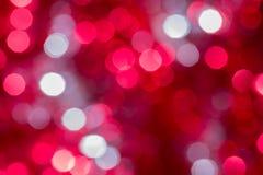 Julbakgrund med suddighetsljus Arkivbilder