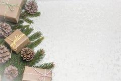 Julbakgrund med tomt utrymme för text royaltyfria foton