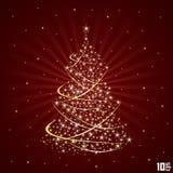 Julbakgrund med treen Royaltyfri Fotografi