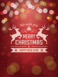 Julbakgrund med typografi Arkivfoton