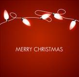 Julbakgrund med vita lampor stock illustrationer