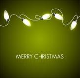 Julbakgrund med vita lampor royaltyfri illustrationer