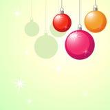Julbakgrund med Xmas-bollar Royaltyfria Bilder