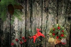 Julbakgrundsbild 3d framför Royaltyfri Foto
