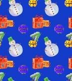 Julbakgrundsblått Royaltyfria Bilder