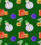 Julbakgrundsgräsplan Arkivfoto