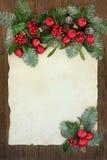 Julbakgrundsgräns Arkivfoto