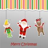 Julbakgrundsklistermärke Arkivbild