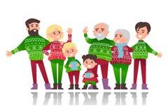 Julbaner med gulliga tecknad filmtecken stock illustrationer