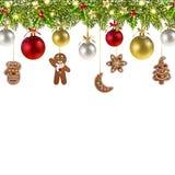 Julbaner med julpepparkakan vektor illustrationer