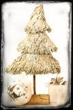 Julbaubles i ett retro inramar Royaltyfria Foton