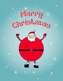 Julbegrepp: Öppen jultomtenarmsned boll lyckligt Arkivfoto