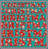 Julbegrepp - att inte avskilja bokstäver Royaltyfria Foton