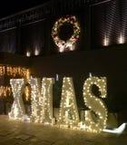 Julbelysning royaltyfria bilder