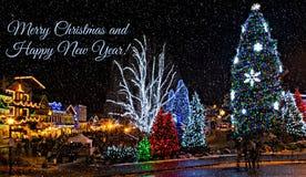 Julbelysning i Leavenworth Royaltyfri Foto