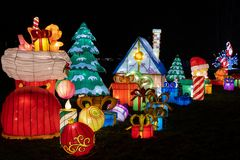 Christmas Illumination at Chinese Light Festival in Warsaw