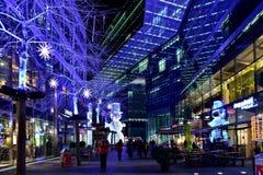Julbelysningar i Berlin Royaltyfria Bilder