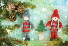 Julberöm på stjärnor royaltyfri fotografi